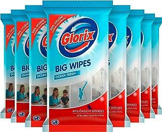 Glorix Big Wipes Ocean Schoonmaakdoekjes - 8 x 15 stuks - Grootverpakking