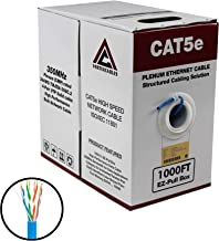 CAT5E PLENUM 1000FT 350MHZ 24AWG BLUE SOLID NETWORK CABLE CMP