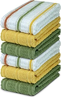DecorRack 6 Large Kitchen Towels, 100% Cotton, 16 x 27 inches, Thick Absorbent Dish Drying Cloth, Perfect for Kitchen, Han...