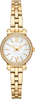 Michael Kors Womens Quartz Watch, Analog Display and Stainless Steel Strap MK3833