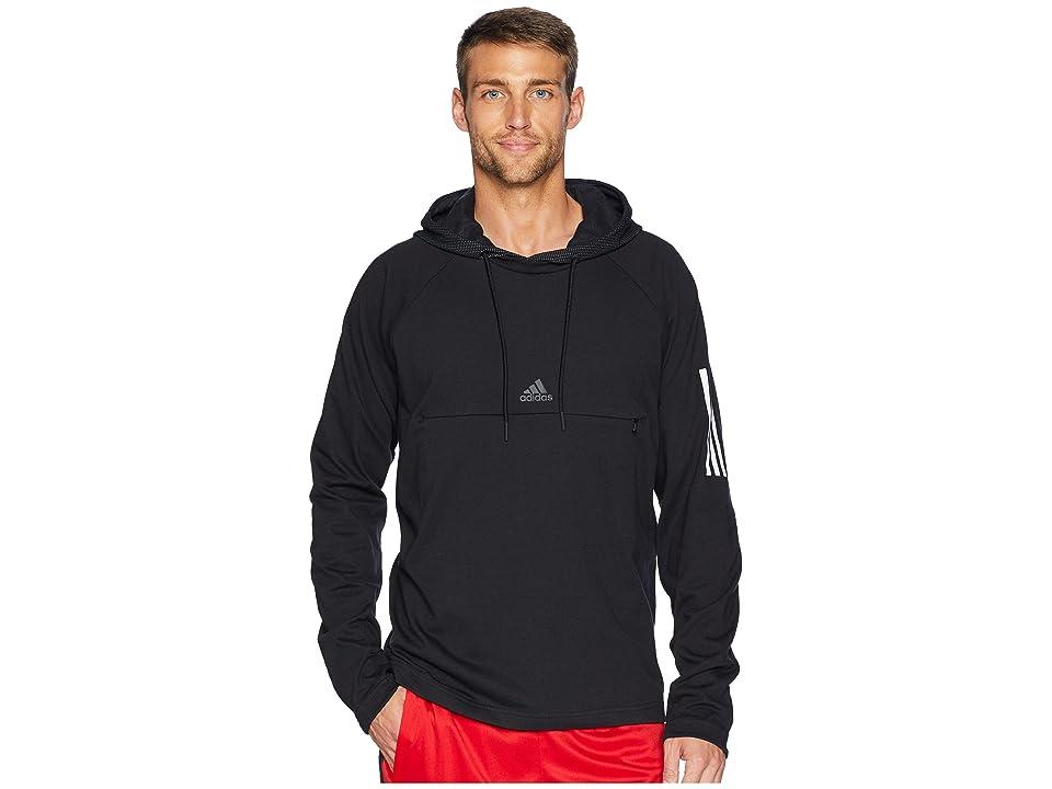 adidas Sport 2 Street Lifestyle Pullover Hoodie (Black/Black) Men