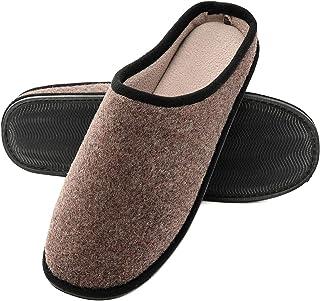 Zapatillas de Casa Hombre, Fieltro Ultraligero y cómodo, Zapatilla de Estar por casa para Hombre Antideslizante