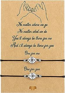 Willbond Braccialetto promessa con dito mignolo, per coppie, amicizia, a distanza, in abbinamento alla laurea idea regalo ...