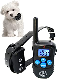 Puss and Pooch Dog Training Collar - Dog Remote Training Collar 300 Meter Range Static Shock Collar w/Humane Vibration & B...