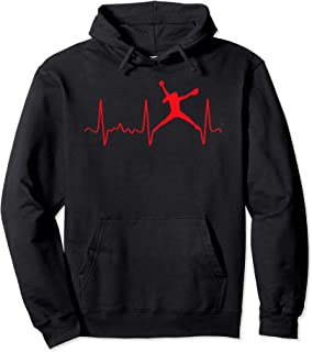Red Softball Pitcher Heartbeat - Fastpitch Softball Pitcher Pullover Hoodie
