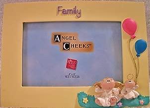 Angel Cheeks 'Family' Frame By Russ Berrie (Angel Cheeks Trademark of Kirk's Kritter's)
