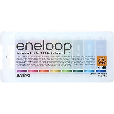 SANYO NEW eneloop tones 充電式ニッケル水素電池(単3形8色カラーパック) HR-3UTGA-8TN