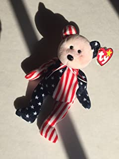 Ty Beanie Babies Spangle - American Bear (Red Face)