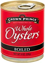 Crown Prince Whole Boiled Oysters, 8-Ounce Cans (Pack of 12)