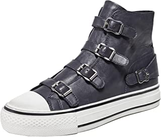 ASH Women's Leather Virgin High Top Trainers Grey