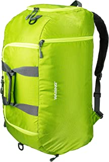 50L 3-Way Travel Duffel Backpack Luggage Gym Sports Bag with Shoe Compartment (Grass green)