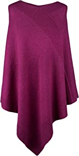 Women's 100% Cashmere Poncho - Fuchsia Pink - Made in Scotland by RRP 600