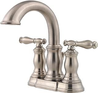 Pfister LF043TMKK Hanover 2-Handle 4 Inch Centerset Bathroom Faucet in Brushed Nickel, Water-Efficient Model