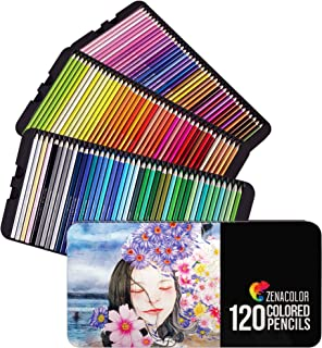 120 Colored Pencils Set, Numbered, with Metal Box - 120 Coloring Pencils for Adult Coloring Books - Gift for Artists