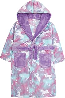 Fluffy Fleece Robe with Belt CityComfort Dressing Gown for Girls Hooded Super Soft Kids Dressing Gowns in Purple Pink Gifts for Girls Teenagers Age 5-14