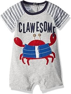 Baby Boys Crab Short Sleeve Raglan One Piece Playwear