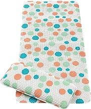 ClevaMama Baby Bath Mat & Knee Cushion - Non Slip Children's Mat with Suction Pads - Polka Dots