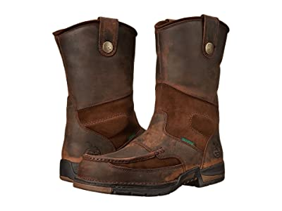 Georgia Boot Athens 10 Moc Toe Wellington (Brown) Men