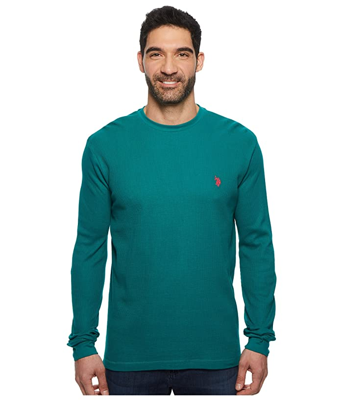 U.S. POLO ASSN. Long Sleeve Crew Neck Solid Thermal Shirt