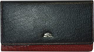 Laveri Flap Wallets For Women - Leather - Red