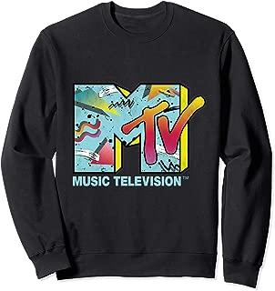Classic MTV Logo 80s Print Design Crewneck Sweatshirts