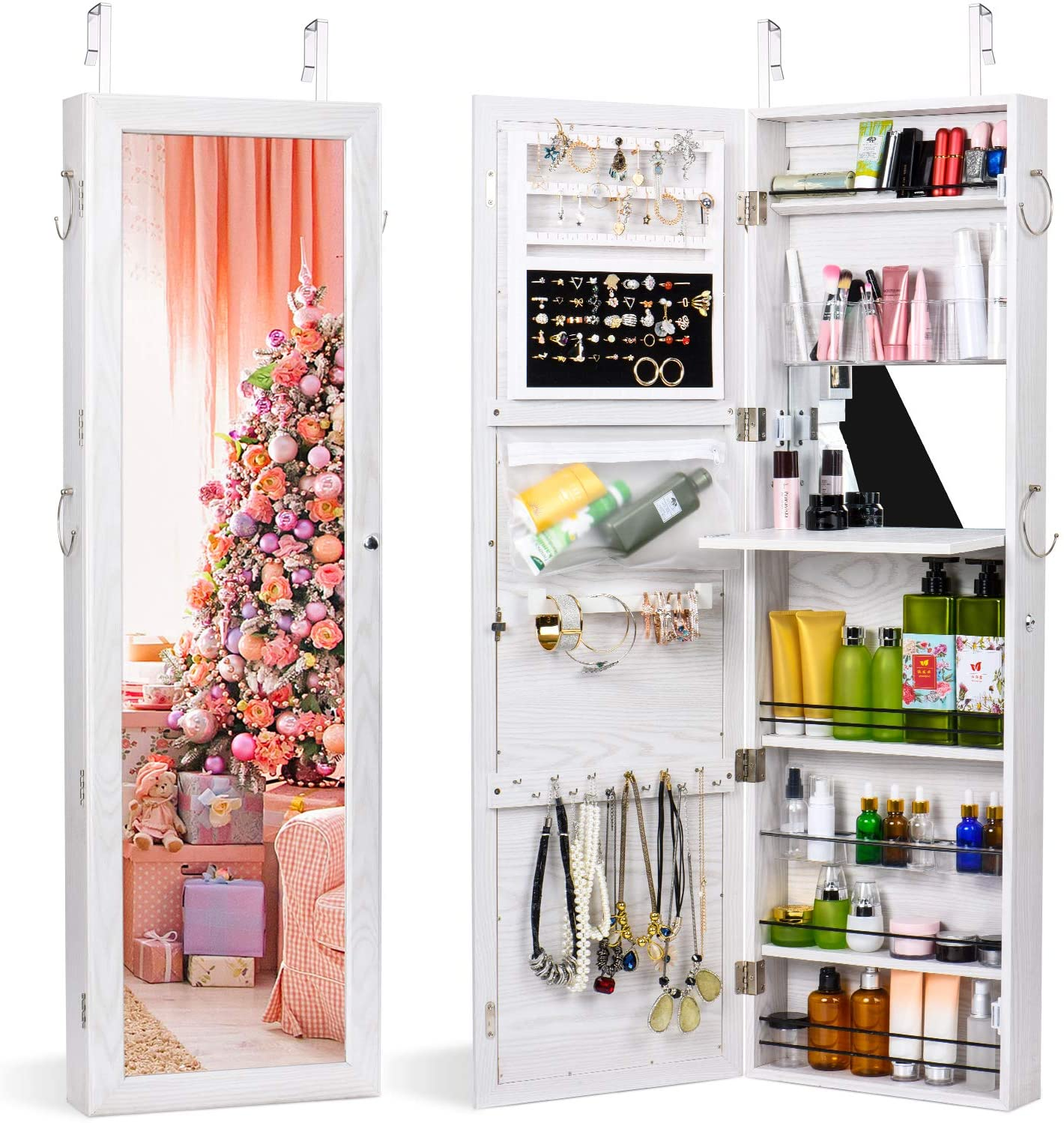 Buy TWING Jewelry Armoire Cabinet Wall Door Mounted Jewelry ...