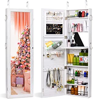 door mirror jewelry armoire
