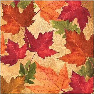 Creative Converting 16 Count Paper Beverage Napkins, Autumns Elegance