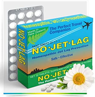 Miers Labs No Jet Lag Homeopathic Remedy + Fatigue Reducer for Airplane Travel Across Time Zones - 32 Count Chewable Table...