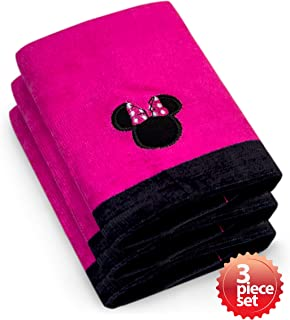 Jay Franco & Sons Disney's Minnie Mouse Super Absorbent and Soft Fingertip Towel 100% Cotton 11