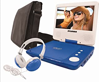 Sylvania SDVD9060-Combo-Blue, 9-Inch Swivel Screen Portable DVD Player with Deluxe Bag and Matching Color Headphone (Blue)