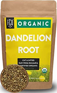 Organic Dandelion Root | Loose Tea (200+ Cups) | 16oz/453g Resealable Kraft Bag | 100% Raw From Bulgaria | by Feel Good Organics
