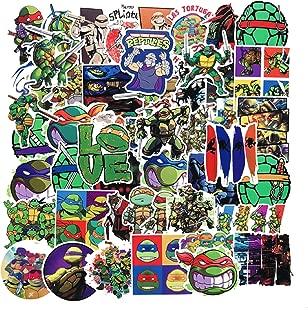 50PCS New Cartoon Teenage Mutant Ninja Turtles Waterproof bar Cases with Graffiti PVC Stickers