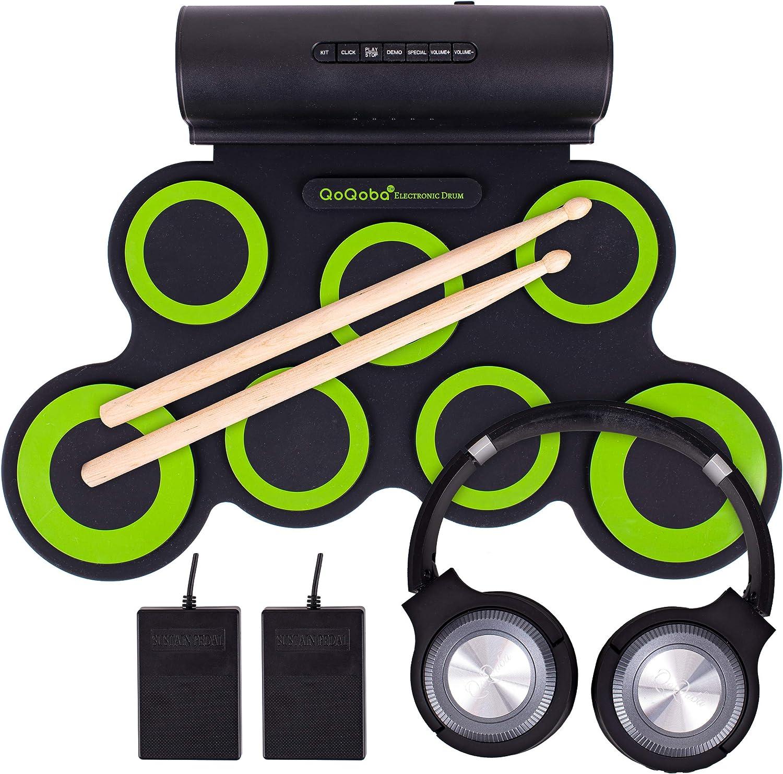 QoQoba Electronic Drum Set for Kids Pro Beginner MIDI Adult Mu Popular products New color