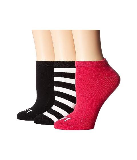 Kate Spade New York Right Left 3-Pack No Show Socks