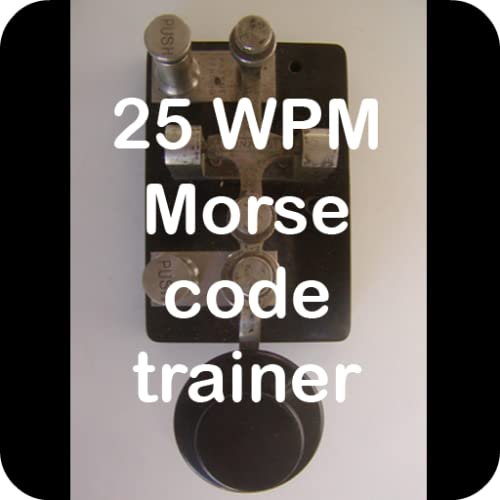 25 WPM amateur ham radio Koch CW Morse code trainer