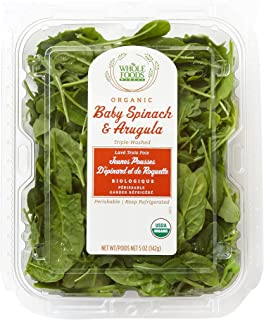 Whole Foods Market, Organic Baby Spinach & Arugula, 5 oz