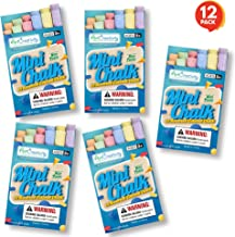ArtCreativity Mini Chalk Set for Kids - 12 Boxes - Each Box Has 12 Blackboard Chalk Sticks - Non-Toxic Art and Craft Suppl...