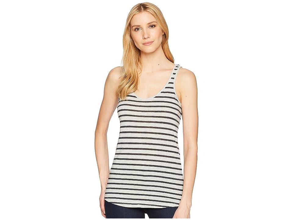Alternative Castaway Eco-Jersey Stripe Tank Top (Eco Oatmeal Riviera Stripe) Women
