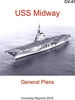 CV-41 - USS Midway - Booklet of General Plans, 1987 (18 Complete Blueprints with over 160 Enlargements.) [Student Loose Leaf Facsimile]