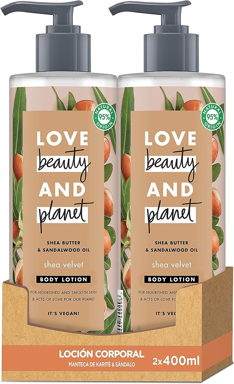 Love Beauty and Planet Shea Velvet Loción manteca de karité y sándalo 400ml