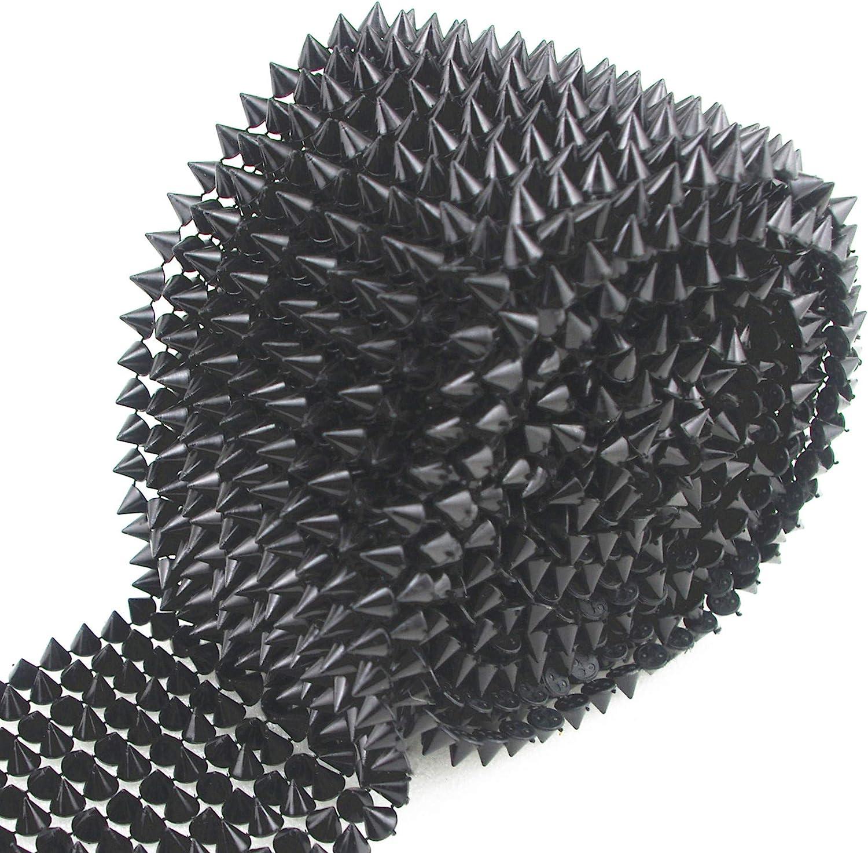 AEAOA 1 Yard Sew Stitch On Spike Punk Rock Stud Cone security Tr Superior Flatback