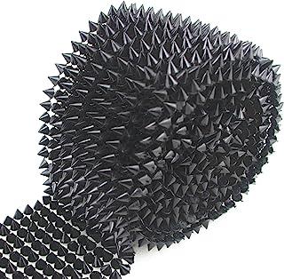 AEAOA 1 Yard Sew Stitch On Spike Stud Cone Flatback Punk Rock Trim mesh Bead Craft (Black)