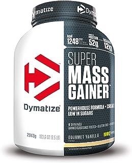 Dymatize Super Mass Gainer Gourmet Vanilla 2.9kg - Polvo Para Ganar Peso + Carbohidratos. BCAA y Caseína