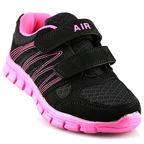 Sizes 8,9,10,11,12,13,1,2,3,4,5,6 Mercury Kids Black and Lime Trainer
