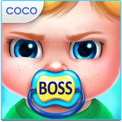 Naughty Baby Boss needs YOU to keep him happy! Dress your baby up in crazy outfits that fit his bad-boy style! Feed your baby yummy food, but make sure he doesn't throw it at you!