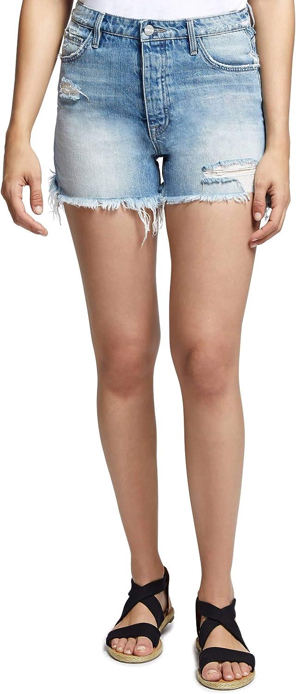 Sanctuary Womens Ripped Light Wash Denim Shorts