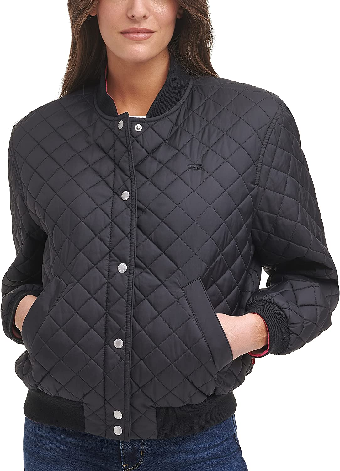 Levi's Women's Diamond Quilted Jacket Bomber Long-awaited Max 49% OFF