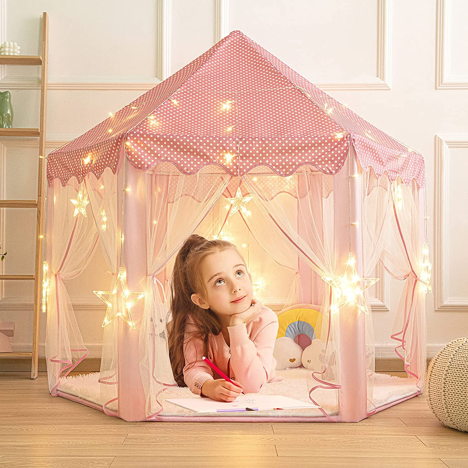 KIXINWA Kids Play Tent Max 56% OFF Little Girls Old Years for Toys Gift Max 60% OFF 3