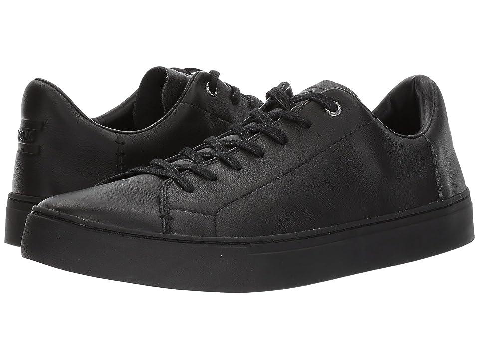 TOMS Lenox (Black/Black Leather) Men